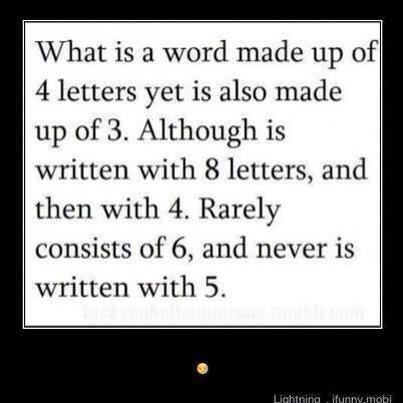 Word riddle