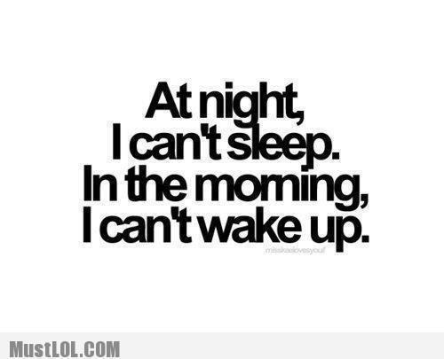 At Night, I Can't Sleep…