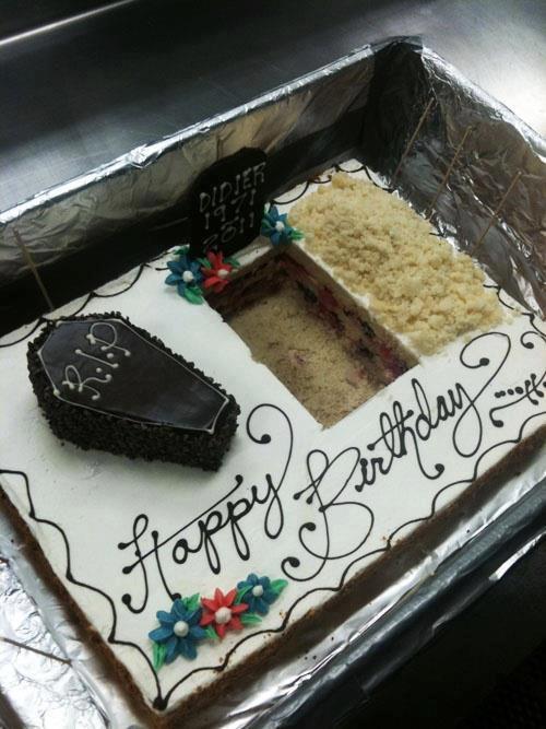 Birthday cake grave