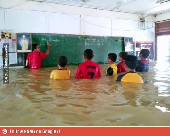 School flood