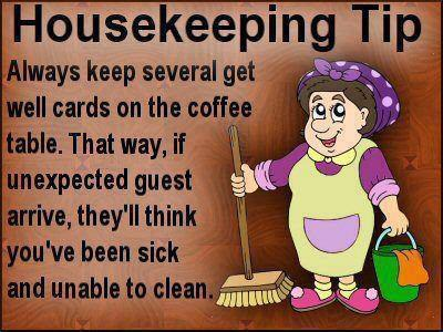 Funny housekeeping quotes quotesgram for Funny tip of the day quotes