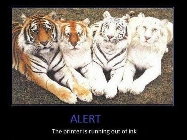 Printer alert