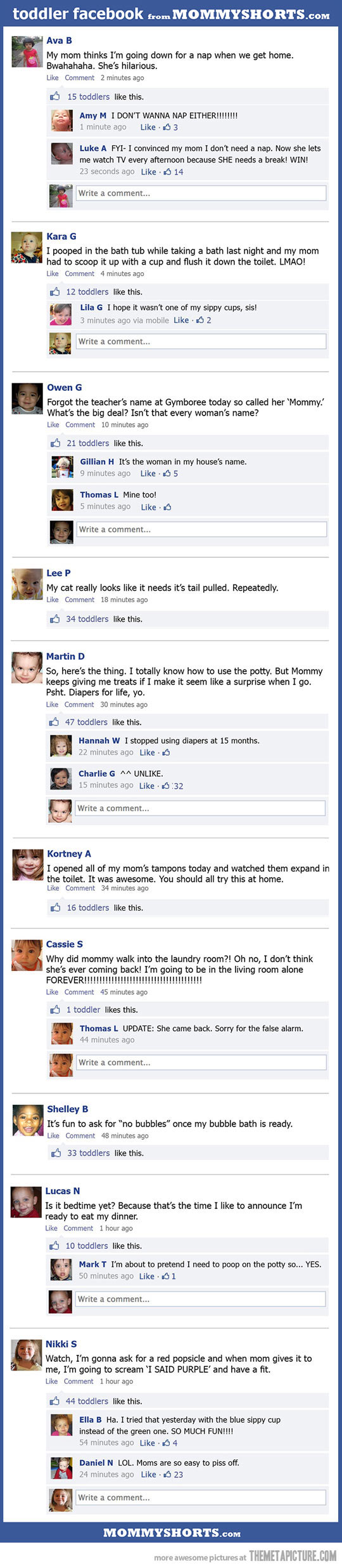 If toddlers were on facebook