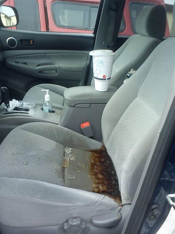 Soda spill