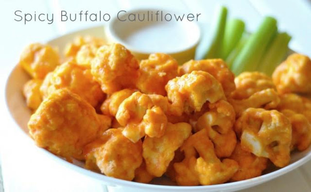 Spicy buffalo caulifliower