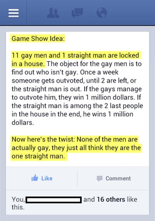 Reality show idea