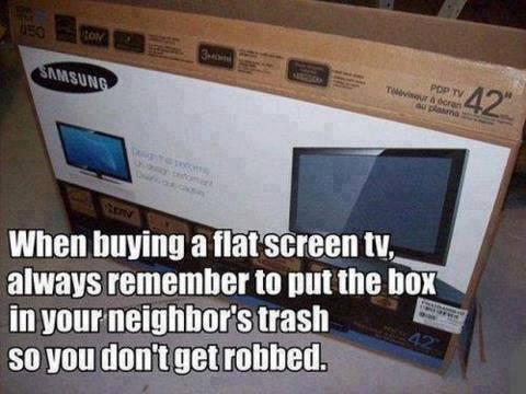 When buying a flatscreen tv