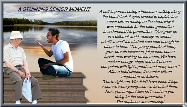 Stunning senior moment
