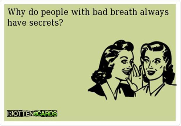 People with bad breath