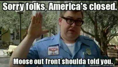 America's closed