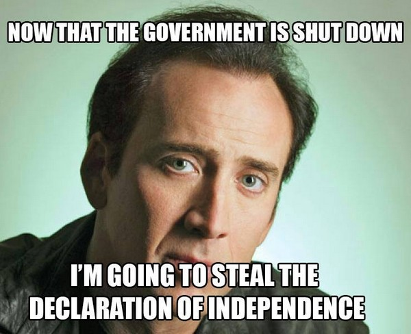 Now that the governent is shut down