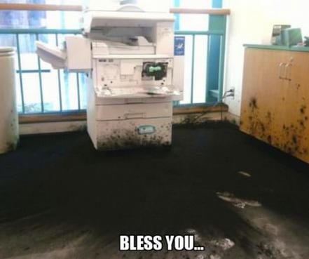 Copier sneeze