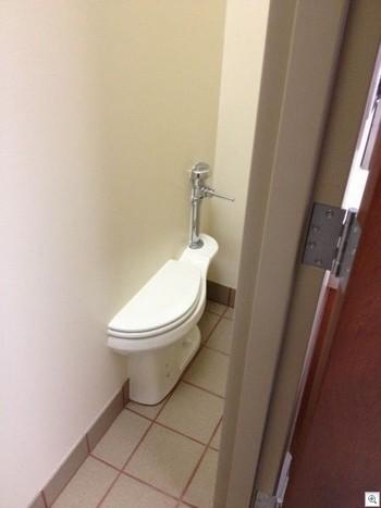 Half toilet