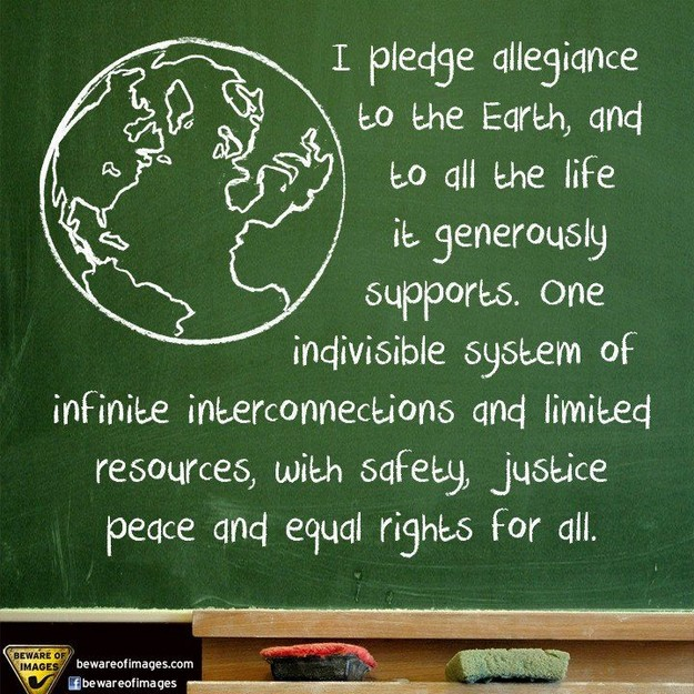 Pledge of allegience to the earth