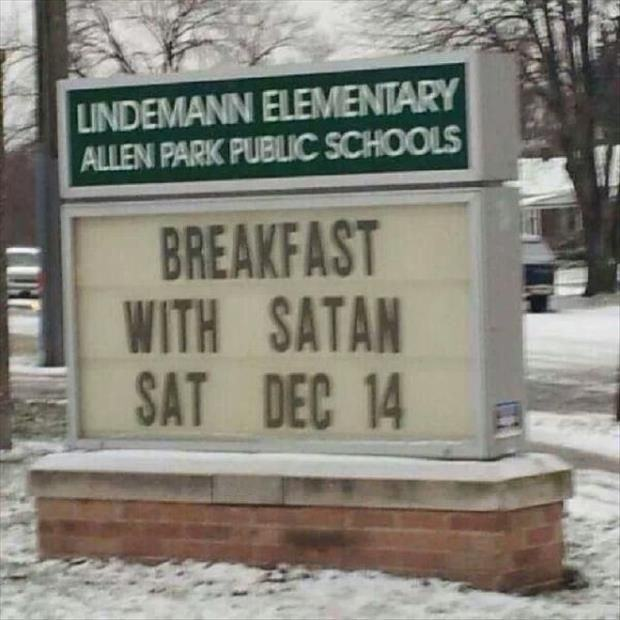 Breakfast with satan