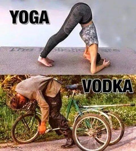 Yoga and vodka