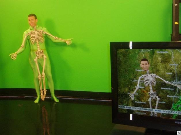 Green screen skeleton