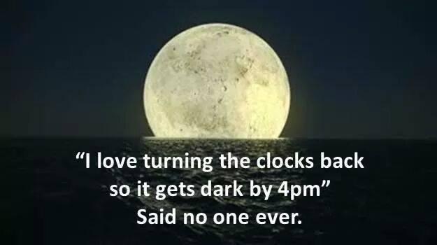 Turning the clocks back