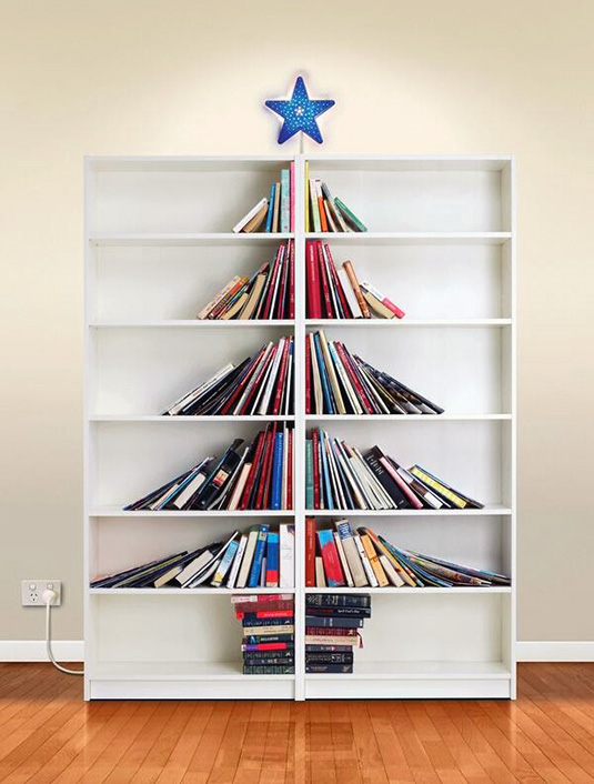 the trees can be freestanding or built on shelves