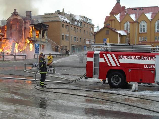 Washing the firetruck