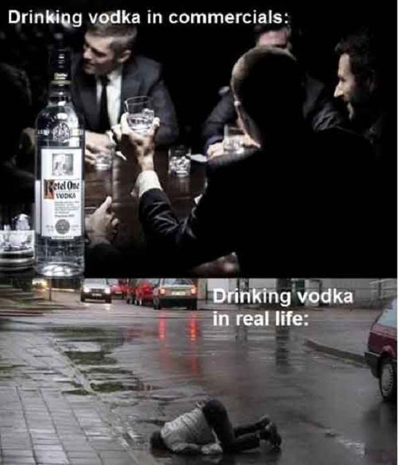 Drinking Vodka...