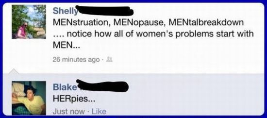 All problems start with men
