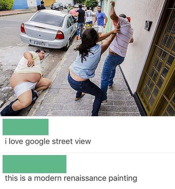 Weird street fight