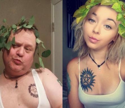 Dad mocks selfies